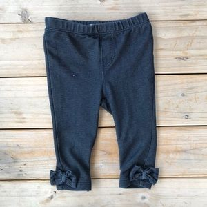 Baby Gap Bow Jeggings - Size 6-12 months